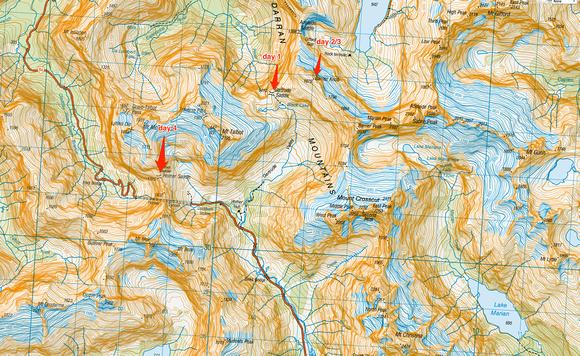 Darren Mountain Topo Map